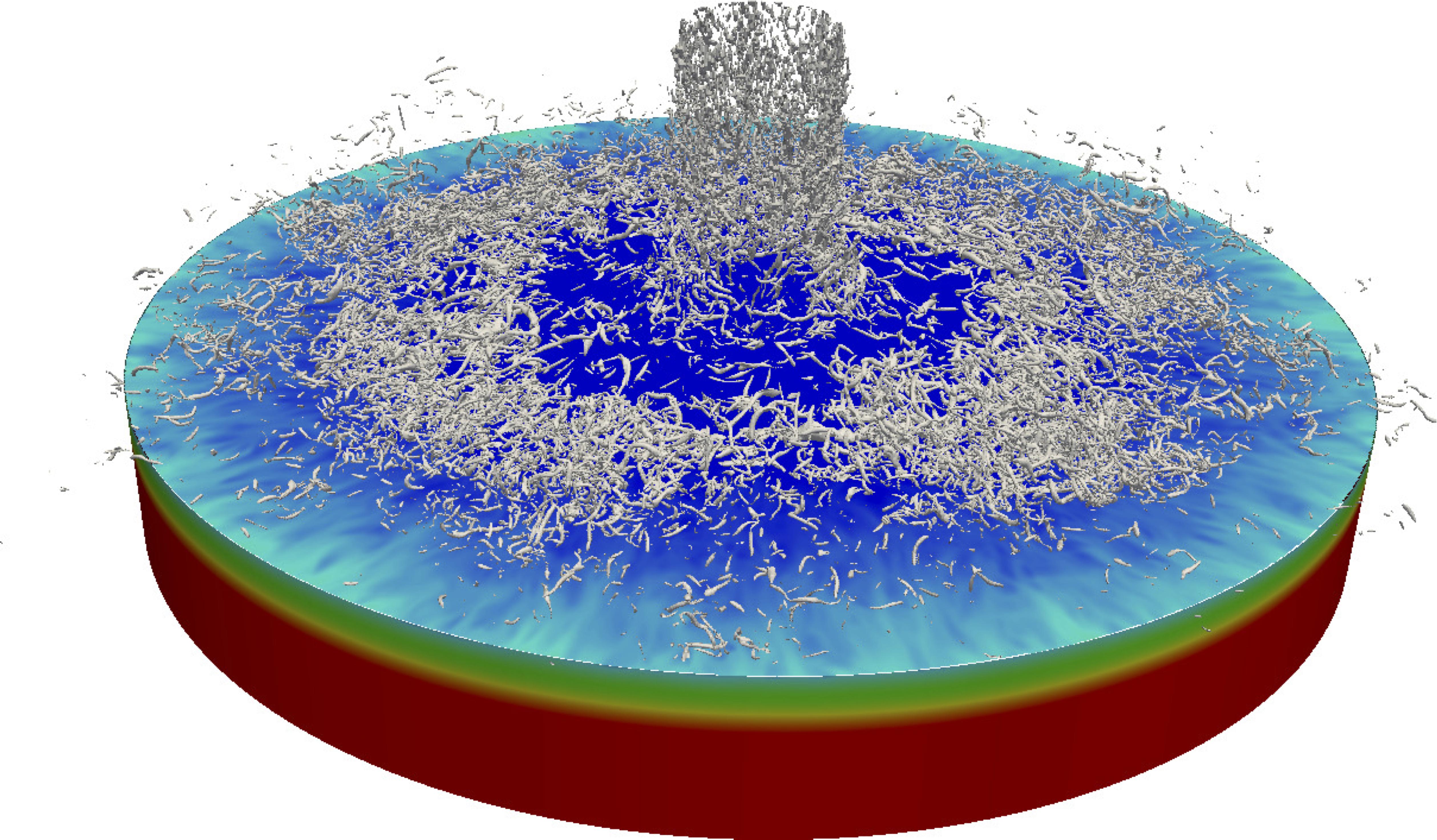 Simulation numérique directe d'un jet turbulent en impact sur une paroi chauffée